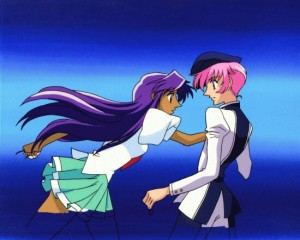 Anthy and Utena from Revolutionary Girl Utena.