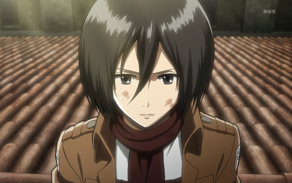 "SHINGEKI NO KYOJIN's Mikasa Ackerman, a secondary protagonist, is only ever referred to as being half ""Asian."""