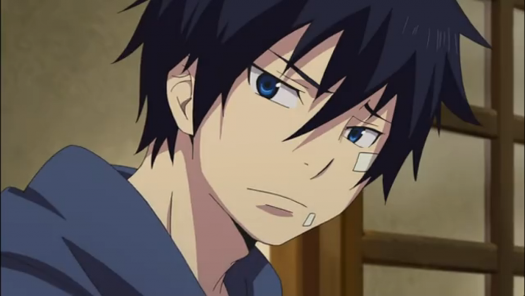 Okumura Rin is the protagonist of AO NO EXORCIST. He's half human and half demon.