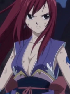 Erza Scarlet fight scene in Fairy Tail anime