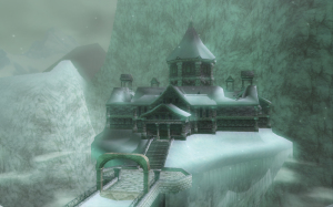 Snowpeak Mansion from Snowpeak Ruins in The Legend of Zelda: Twilight Princess