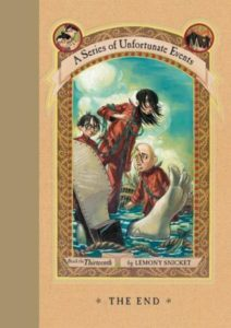 A Series of Unfortunate Events Book 13 The End cover by Lemony Snicket Daniel Handler