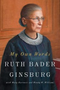 book holiday gift guide 2016 my own words ruth bader ginsburg autobiography biography notorious RBG